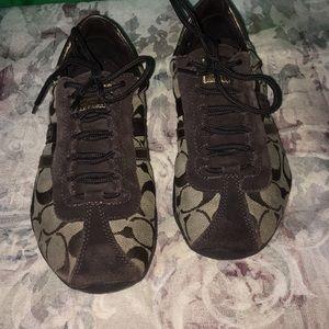 Coach Katelyn Brown & Tan  size 7M Sneakers